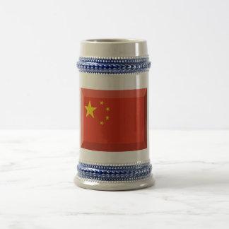 Joya de la bandera de República Popular China Jarra De Cerveza