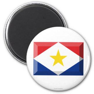 Joya de la bandera de Saba Imán De Frigorifico