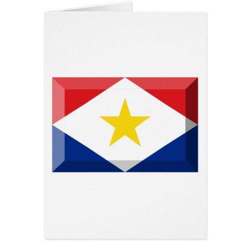 Joya de la bandera de Saba Tarjetas