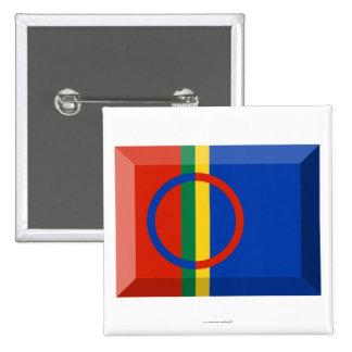 Joya de la bandera de Sapmi Pin Cuadrado