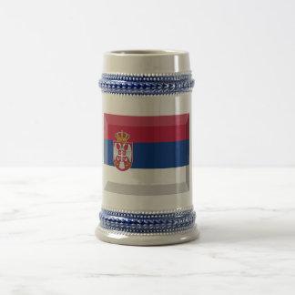Joya de la bandera de Serbia Taza De Café