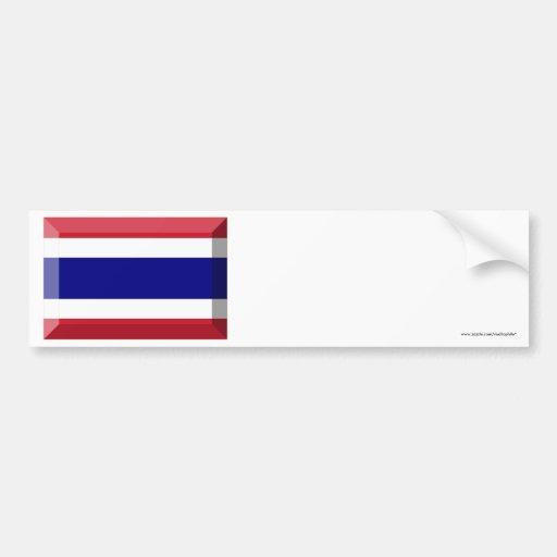 Joya de la bandera de Tailandia Pegatina Para Auto