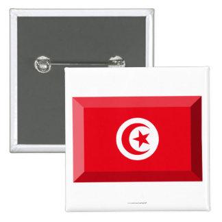 Joya de la bandera de Túnez Pin Cuadrada 5 Cm