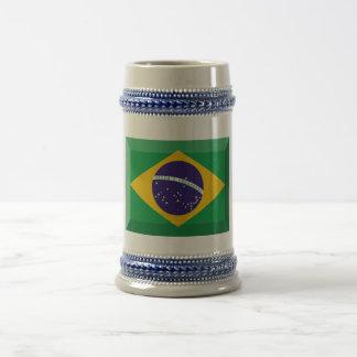 Joya de la bandera del Brasil Taza