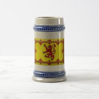 Joya de la bandera del león de Escocia Tazas De Café