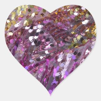Joya de la chispa del color del arco iris de las pegatina en forma de corazón