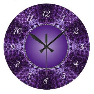 Joya de la corona púrpura reloj redondo grande