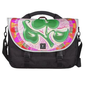 Joya de la hoja del verde esmeralda bolsa de ordenador