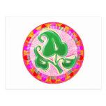 Joya de la hoja del verde esmeralda postales