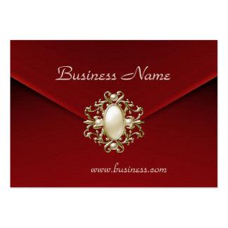 Joya de la perla del terciopelo del rojo rico del  tarjeta personal