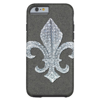 Joya de piedra de Flor New Orleans de la flor de Funda De iPhone 6 Tough