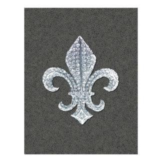 Joya de piedra de Flor New Orleans de la flor de l Membrete A Diseño