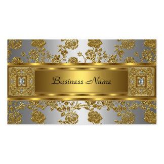 Joya de plata floral gris del oro con clase elegan tarjetas de visita