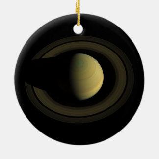 Joya de Saturn del planeta de la Sistema Solar Ornamentos De Navidad