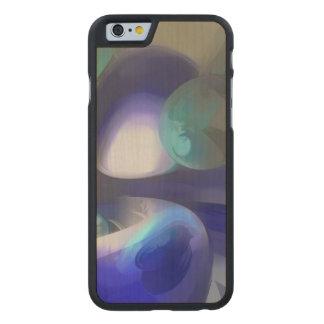 Joya del extracto en colores pastel del Nilo Funda De iPhone 6 Carved® Slim De Arce