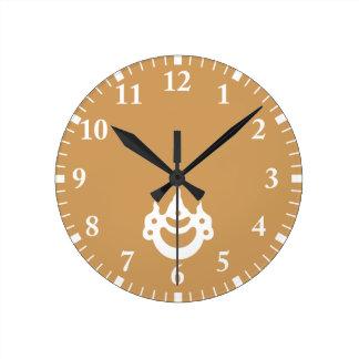 joya del Korin-estilo Reloj Redondo Mediano