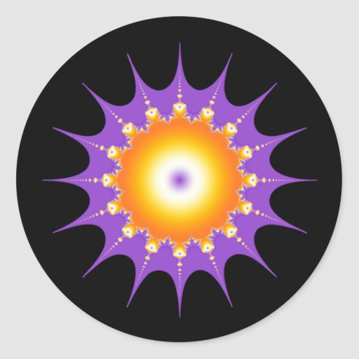Joya del resplandor solar pegatina redonda