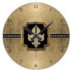 Joya del vintage de la flor de lis de la mirada de reloj redondo grande