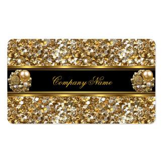 Joya elegante del brillo del oro del negocio de la tarjetas de visita