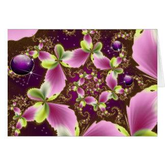 Joya espiral de la mariposa tarjeta de felicitación