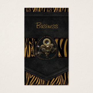 Joya exótica de la correa del negro de la tarjeta tarjetas de visita