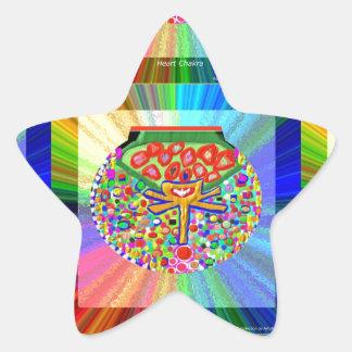 Joya fijada en el CORAZÓN CHAKRA Pegatina En Forma De Estrella