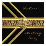 Joya negra elegante del oro del terciopelo de la i anuncio personalizado