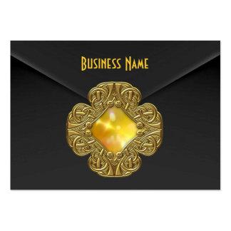 Joya negra rica del oro amarillo del terciopelo de tarjetas personales