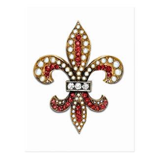 Joya New Orleans de la flor de lis de Flor De Lis Tarjeta Postal