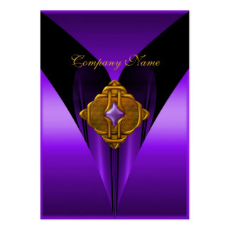 Joya púrpura elegante del oro de la tarjeta de vis plantillas de tarjetas de visita