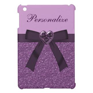 Joya púrpura impresa del brillo del arco y del co iPad mini cobertura