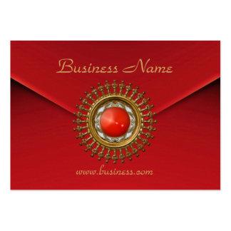 Joya roja de la gema del terciopelo rojo del negoc tarjeta de visita