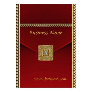 Joya roja del oro del terciopelo del negocio de la plantillas de tarjetas de visita
