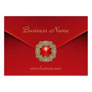 Joya roja del rojo del terciopelo del negocio de l tarjetas de visita