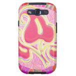 Joya rosada adorable de la hoja: Frontera del Galaxy S3 Cárcasas