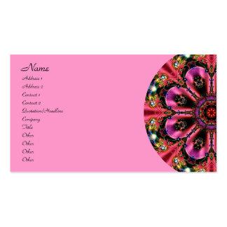 Joya rosada bonita tarjetas de visita