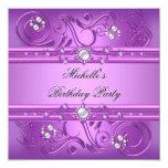 Joya rosada púrpura de la perla de la fiesta de anuncio personalizado