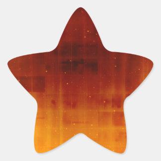 Joya Starfield anaranjado quemado tono Pegatina Forma De Estrella Personalizadas