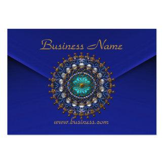 Joya vieja del terciopelo azul rico del negocio de plantillas de tarjetas personales