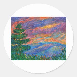 Joyas azules de Ridge Pegatina Redonda