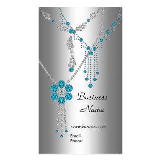 Joyas azules elegantes de la tarjeta de visita en