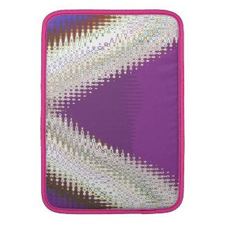 Joyas blancas chispeantes - modelo de onda de fundas MacBook