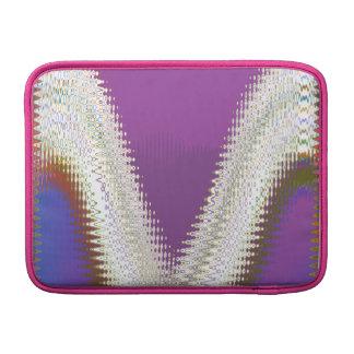 Joyas blancas chispeantes - modelo de onda de fundas macbook air