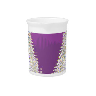 Joyas blancas chispeantes - modelo de onda de plat jarrones