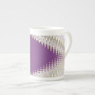 Joyas blancas chispeantes - modelo de onda de plat tazas de china