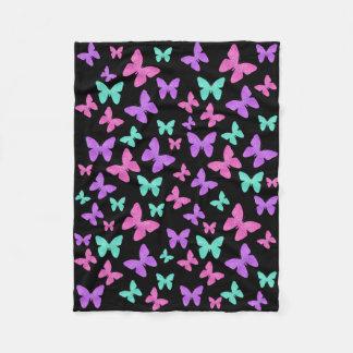 Joyas coloridas de la mariposa manta de forro polar