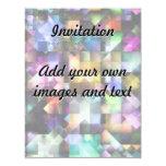 """Joyas coloridas del fractal invitación 4.25"""" x 5.5"""""""