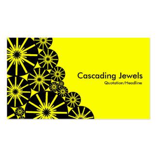 Joyas de conexión en cascada - amarillo tarjetas personales