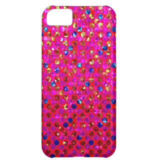 joyas de la chispa del lunar del caso del iPhone 5 Funda Para iPhone 5C