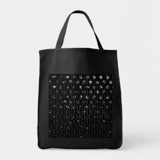 Joyas de la chispa del negro del bolso bolsa